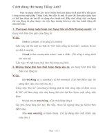 Tài liệu Cách dùng thì trong Tiếng Anh docx