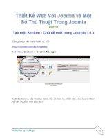Tài liệu Thiết Kế Web Với Joomla part 10 doc