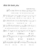 Tài liệu Bài hát hát lời tình yêu - Nguyễn Đức Trung (lời bài hát có nốt) docx