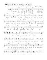 Tài liệu Bài hát mùa đông mong manh - Trường Huy (lời bài hát có nốt) docx