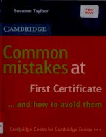 Tài liệu Common Mistakes At First Certificate Cambridge pdf