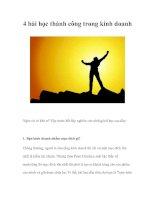 Tài liệu 4 bài học thành công trong kinh doanh pdf