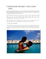 Cách làm tình mát lạnh và thú vị dưới nước