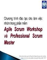 Agile Scrum Workshop và và Professional Scrum Professional Scrum Master Master