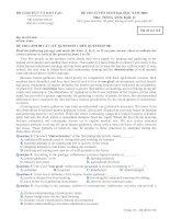 Tài liệu Đề thi ĐH môn Tiếng Anh khối D 2009 M318 docx