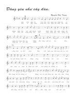 Tài liệu Bài hát đáng yêu như cây đàn - Nguyễn Đức Trung (lời bài hát có nốt) pptx