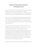 Tài liệu LUYỆN ĐỌC TIẾNG ANH QUA TÁC PHẨM VĂN HỌC-SHORT STORY BY O'HENRY A Technical Error doc
