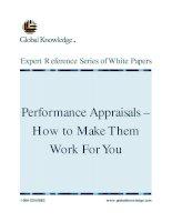 Tài liệu Performance Appraisals doc