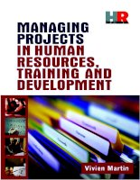 Projects in human resources training and developement