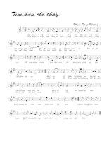 Tài liệu Bài hát tìm đâu cho thấy - Phạm Đăng Khương (lời bài hát có nốt) ppt