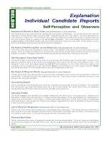 Tài liệu Explanation Individual Candidate Reports: Self-Perception and Observers pdf
