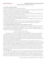 Tài liệu Đề cương ôn tập Ngữ văn 12 pdf