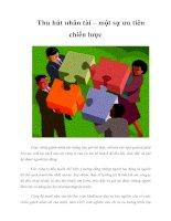 Tài liệu Thu hút nhân tài – một sự ưu tiên chiến lược Cu doc