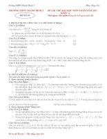 Bài giảng de thi thu dh mon toan 10