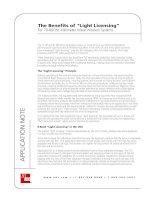 "Tài liệu The Benefits of ""Light Licensing"" docx"