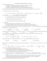 Tài liệu BÀI TẬP TRẮC NGHIỆM CHƯƠNG IV LỚP 12 NC pptx