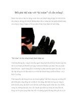 """Tài liệu Đối phó thế nào với """"kẻ trộm"""" cổ cồn trắng? pdf"""