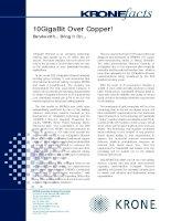Tài liệu KRONE - Article - 10GBit over Copper cable pptx