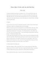 Tài liệu Hoàn thiện 10 tính cách của nhà lãnh đạo - Phần đầu docx