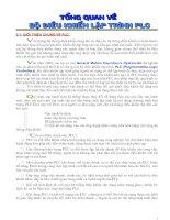 Tài liệu Tổng quan về bộ điều khiển lập trình PLC doc