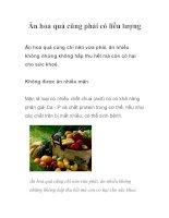 Tài liệu Ăn hoa quả cũng phải có liều lượng pptx