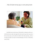 Tài liệu Một số bệnh thường gặp và cách phòng bệnh doc