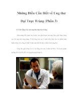 Tài liệu Những Điều Cần Biết về Ung thư Đại Trực Tràng (Phần 3) doc
