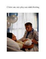 Tài liệu Chăm sóc sản phụ sau sinh thường doc