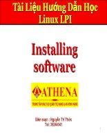 Tài liệu Installing software pptx
