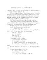 Tài liệu TÍNH TOÁN THIẾT KẾ KẾT CẤU MÁY, Chương 1 pdf