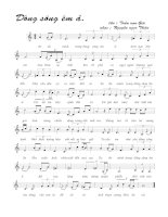 Tài liệu Bài hát dòng sông êm ả - Nguyễn Ngọc Thiện (lời bài hát có nốt) pdf