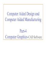 Tài liệu Part-4: Computer Graphics-CAD Software pdf