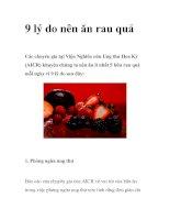Tài liệu 9 lý do nên ăn rau quả ppt