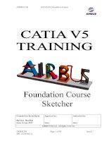 Tài liệu AIRBUS UKCATIA V5 and Foundation Course Sketcher docx