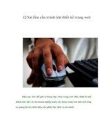 Tài liệu 12 Sai lầm cần tránh khi thiết kế trang web pptx