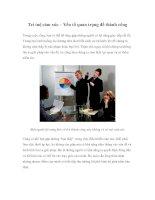 Tài liệu Trí tuệ cảm xúc – Yếu tố quan trọng để thành công pptx