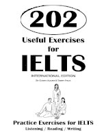 Tài liệu 202 useful exercises for IELTS part 1 pptx