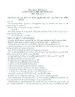 Bài giảng Chuyên đề Sinh học 9
