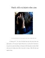Tài liệu Thuốc điều trị bệnh trầm cảm pdf