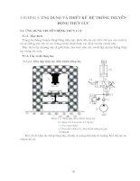 Tài liệu Chương 5: Ứng dụng và thiết kế hệ thống truyền động thủy lực docx