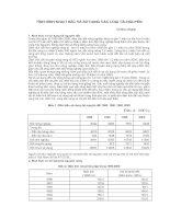 Tài liệu Tình hình khai thác và sử dụng các loại tài nguyên pptx