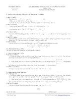 Tài liệu Đề thi tuyển sinh Đại học, cao đẳng môn Toán - Đề số 1 pptx