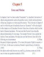 Tài liệu Chapter 5: Force and Motion pdf