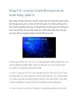 """Tài liệu Sổ tay P.R. """"in-house"""" 9 cách để có quan hệ với truyền thông (phần 3) pptx"""