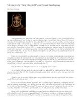 """Tài liệu Về nguyên lý """"tảng băng trôi"""" của Ernest Hemingway."""