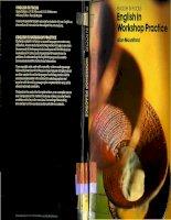 Tài liệu ENGLISH IN WORKSHOP PRACTICE ppt