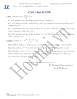 Tài liệu Các bài toán khảo sát hàm số 20.05 (Bài tập và hướng dẫn giải) pptx