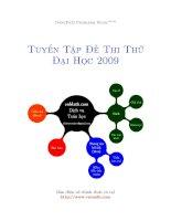Tài liệu Tuyển tập đề thi đại học cao đẳng 2009 ppt