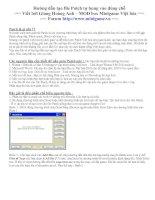 Tài liệu Hướng dẫn tạo file Patch tự bung vào đúng chỗ docx