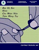 Tài liệu Bảo vệ sức khỏe cho nhân viên tiệm móng tay docx